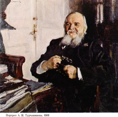 Valentin Aleksandrovich Serov. Portrait Of A. N. Turchaninov