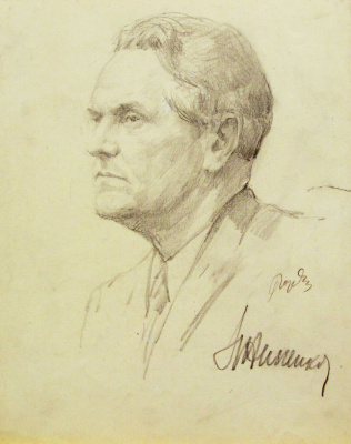 Gordon Meerovich Grigory (1909 - 1995). Actor Nikolai Annenkov