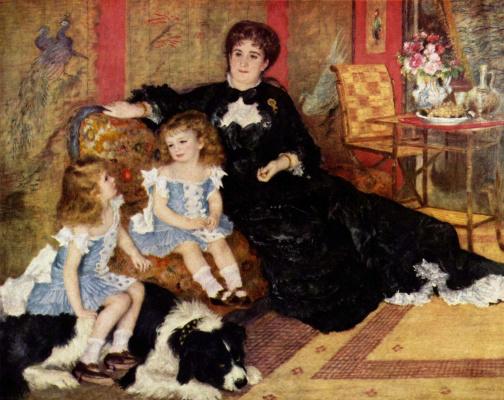 Pierre-Auguste Renoir. The portrait of Madame Charpentier with children
