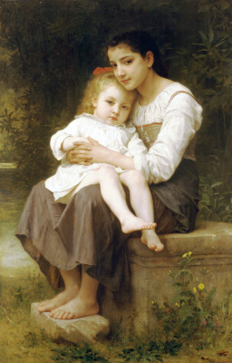 William-Adolphe Bouguereau. Older sister