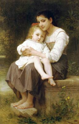 William-Adolphe Bouguereau. Older sister