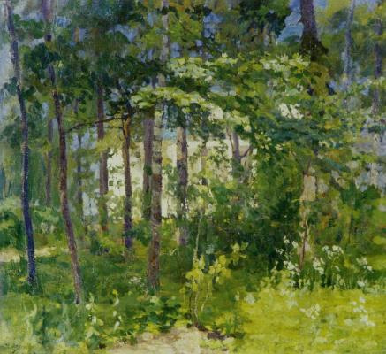 Ilya Ivanovich Mashkov. In the park. Landscape