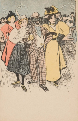 Theophile-Alexander Steinlen. The man, accompanied by two ladies