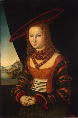 Lucas Cranes the Elder. Female portrait