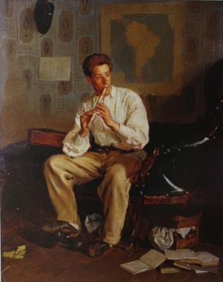 Ilya Efimovich Repin. Portrait of V. E. Repin, musician, brother of the artist. State Russian Museum.