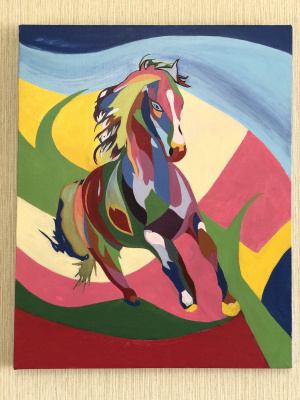Daria Konstantinovna Alypova. Horse