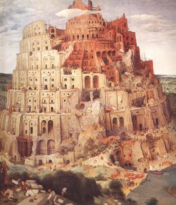 Jan Bruegel The Elder. The tower of Babel