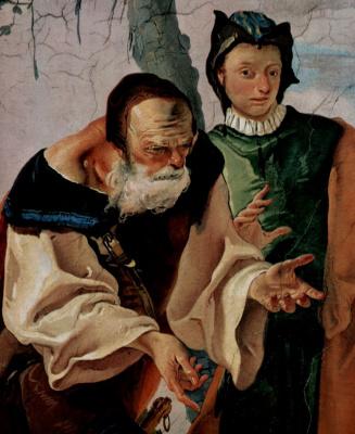 Джованни Доменико Тьеполо. Рахиль, укравающая идолов, фрагмент: Иаков