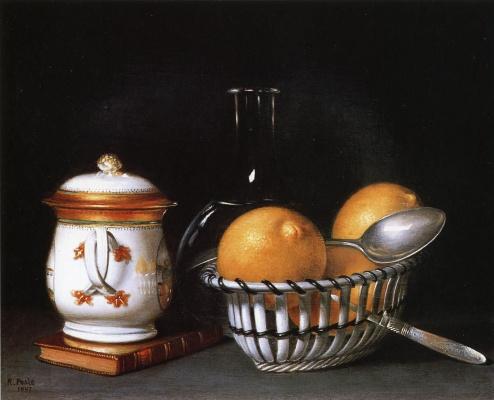 Raphaelle Peale. Lemons and sugar