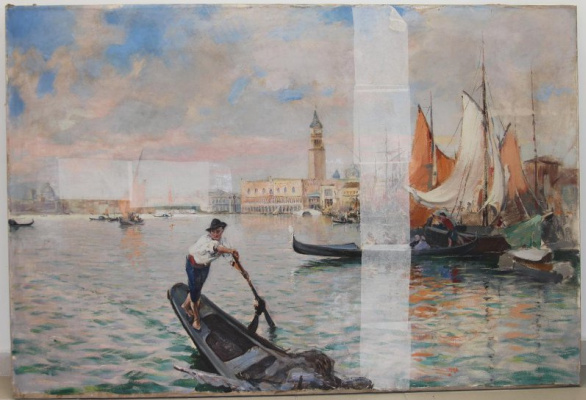 Pavel Petrovich Benkov. Venetian Bay. View of the Doge's Palace