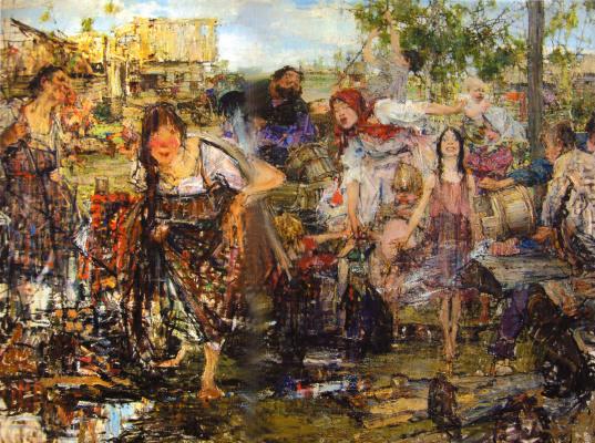 Nikolay Feshin. Pouring