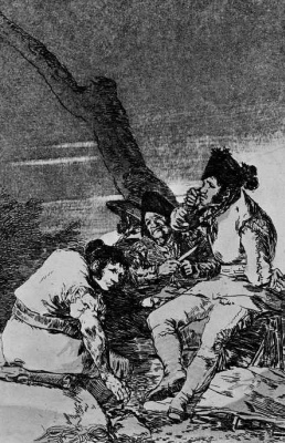 """Francisco Goya. """"The case guys"""" (Series """"Caprichos"""", page 11)"""
