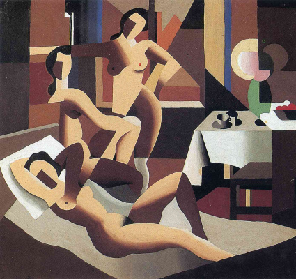 René Magritte. Three Nudes in the interior