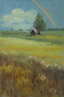 Elena Vyazemskaya. Rainbow over the field