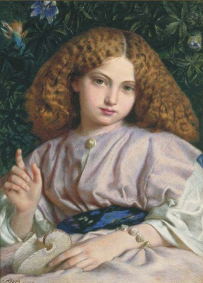 Frederick William Burton. Miranda in childhood