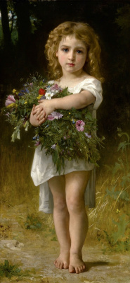 William-Adolphe Bouguereau. Spring flowers