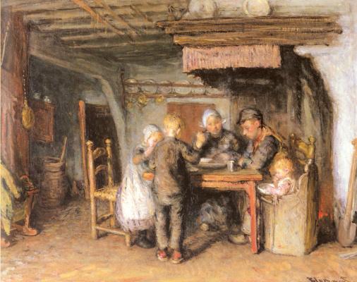 Бернардус Бломмерс. Семья обедает