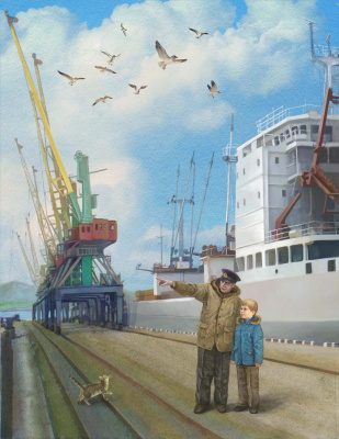 Vitaly Vasilevich Dudarenko. The Port Of Murmansk