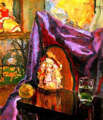 Adalbert Mikhailovich Erdeli. Still life with drapery