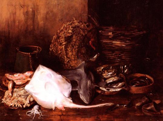 Уильям Чейз. Рыбный рынок в Венеции