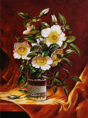 Vladimir Shtykov. Rosehip in a glass