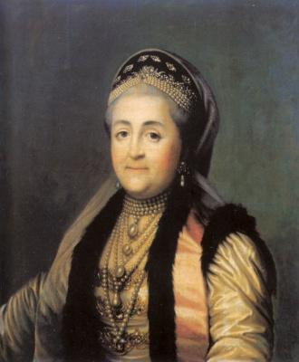 Эриксен, Вигилиус. Портрет Екатерины II в шугае и кокошнике