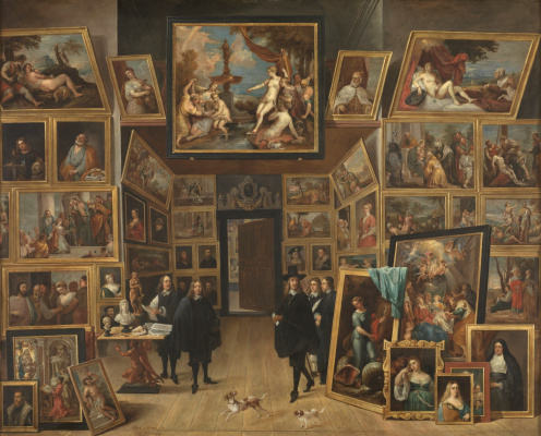 David Teniers the Younger. Archduke Leopold Wilhelm in his art gallery in Brussels