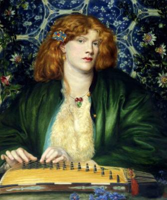 Dante Gabriel Rossetti. Blue gazebo
