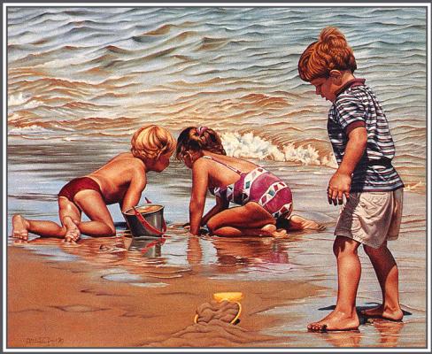 Мариа Дави. Дети на пляже