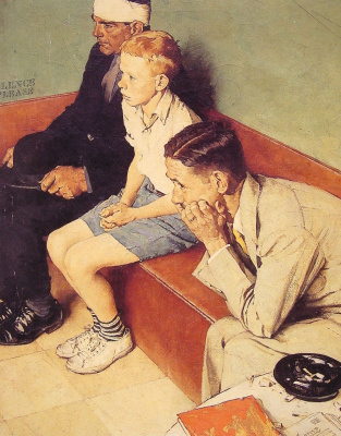 Norman Rockwell. The waiting room