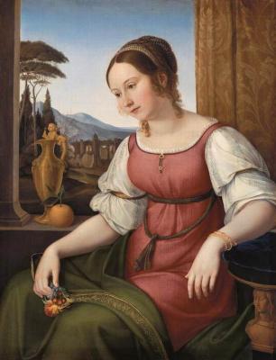 Фридрих Вильгельм фон Шадов. Портрет романской девушки (Ангелина Магтти)
