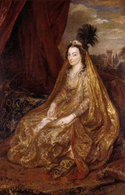 Anthony van Dyck. Portrait of Teresa Khan, lady Shirley