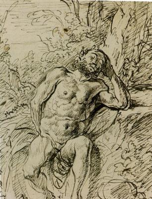Jan Livens. Sleeping Satyr