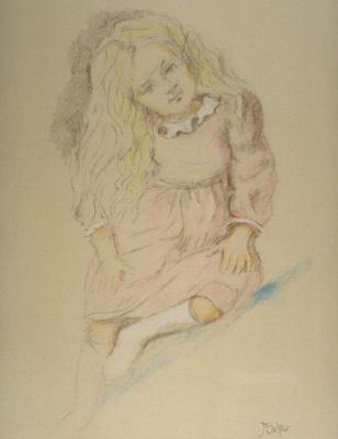 Balthus (Balthasar Klossovsky de Rola). Little Girl (Portrait of Valerie)