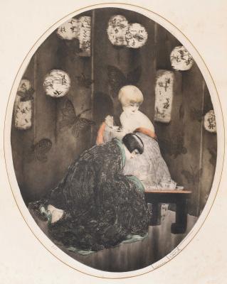 Icarus Louis France 1888 - 1950. Tea. 1926