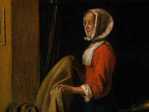 Pieter de Hooch. Bedroom. Fragment