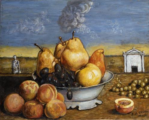 Джорджо де Кирико. Тарелка с фруктами
