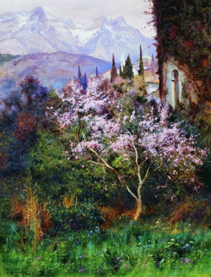 Joseph Evstafievich Krachkovsky. Almonds in bloom. Simferopol Art Museum