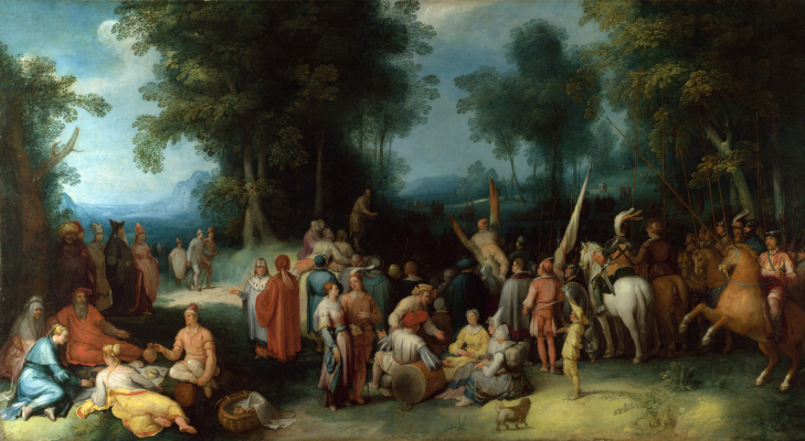 Cornelis van Haarlem. The sermon of St John the Baptist