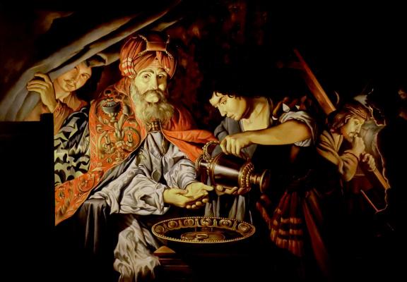 Valery Vasilyevich Litvinov. Pilate washing his hands (copy of Stoma)