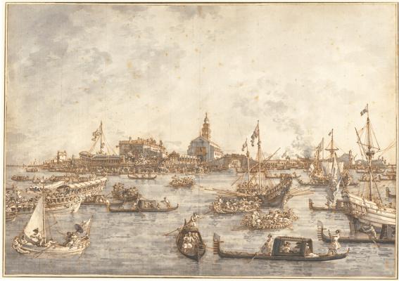 Giovanni Antonio Canal (Canaletto). Ascension Day in Venice