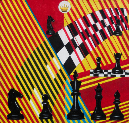 Victor Petrovich Burmin. Chess in painting number 5