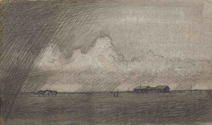 Balto Lyksokov. Rain in the steppe