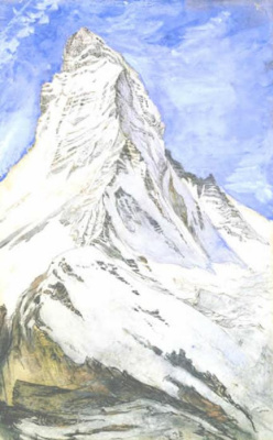 John Ruskin. View of the Matterhorn