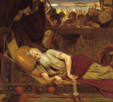 Король Лир и Корделия. Фрагмент. Спящий Лир