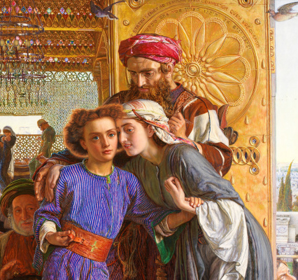 William Holman Hunt. The finding of the Saviour in the temple. Fragment VI