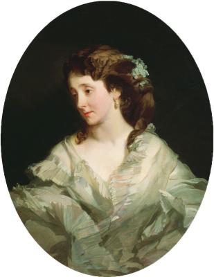 Ivan Kuzmich Makarov. Portrait of Alexandra Mikhailovna Chelishcheva, born Verigina. 1865