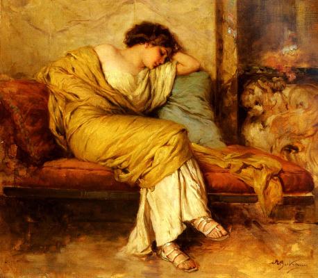Акилле Бельтраме. Спящая фигура