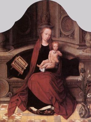 Адриан Изенбрант. Мадонна с младенцем на троне