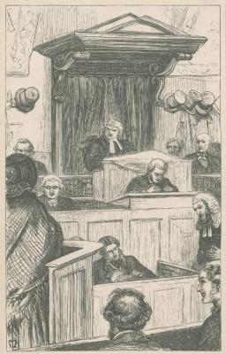 Джон Эверетт Милле. Бриджит Болстер в суде. Иллюстрация к произведениям Энтони Троллопа
